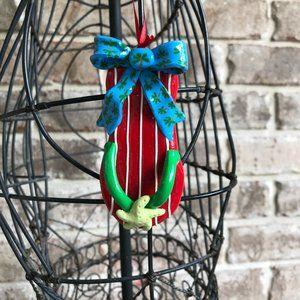 Handmade Flip Flop Ornament Palm Tree Starfish VTG